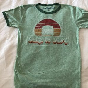 Boys size 10 Rowdy Sprout green Take It Easy tee